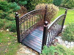 Metal Garden Bridge Decorative And Functional Item For