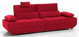 Canapé Rouge Convertible : canape lit bono rouge ~ Teatrodelosmanantiales.com Idées de Décoration