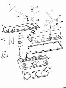 Cylinder Head And Rocker Cover For Mercruiser 454  502 Mpi