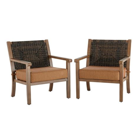 hton bay kapolei stationary wicker outdoor lounge chair