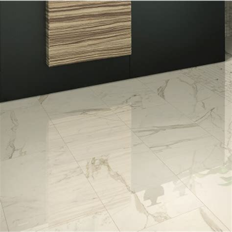 24x24 Rectified Porcelain Tiles by Versilia Calacatta Oro Polished 24x24 Porcelain Tile