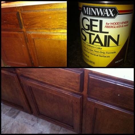 Gel Stain Cabinets Home Depot by I Used A Gel Stain From Home Depot To Update My
