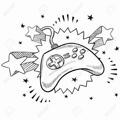 Controller Drawing Sketch Vector Doodle Xbox Excitement
