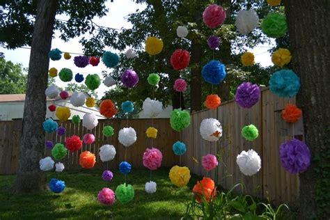 D I Y Garden Decoration Ideas by Diy Outdoor Decorations Waterproof Pom Poms Doin