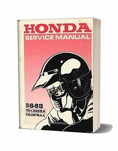 Honda Trx200sx Service Manual Repair 1986 1988