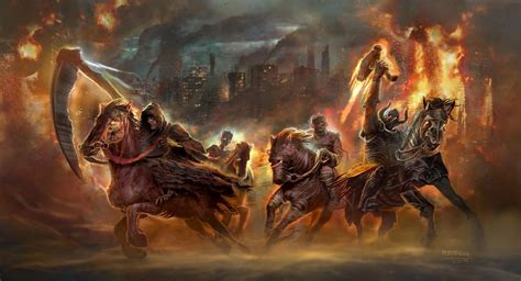 four horsemen apocalypse revelation horseman revelations seven apocalyptic america weapons fantasy