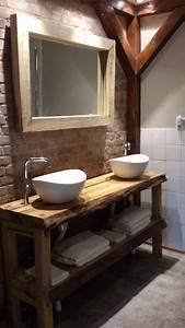 Plan Vasque Bois Brut : meuble vasque id es d co r cup pour la salle de bains c t maison ~ Teatrodelosmanantiales.com Idées de Décoration
