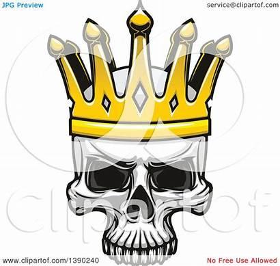 Skull Crown Wearing Royalty Human Vector Clipart