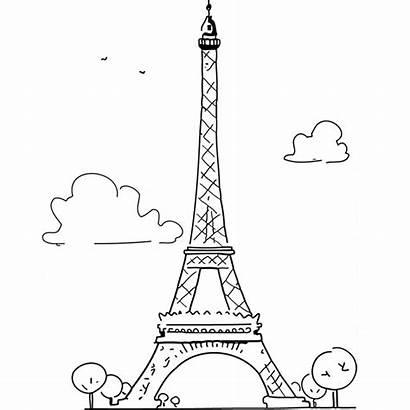Eiffel Tour Coloriage Paris Dessin Tower Colorier