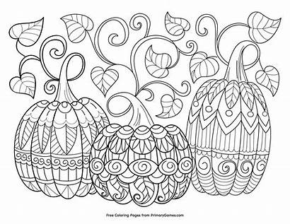 Coloring Halloween Pages Sheets Adults Pumpkins Thanksgiving