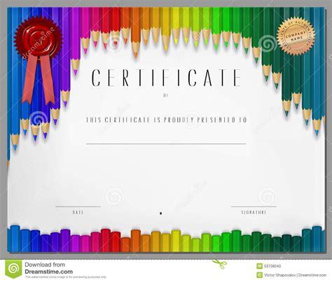 stock photo gift certificate diploma coupon award