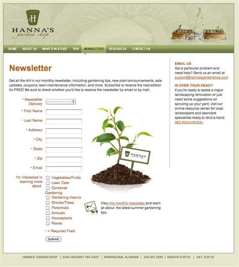 website redesign branding hanna s garden shop