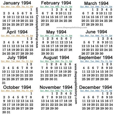 1994 Calendar Kichijoji Eikaiwa Info