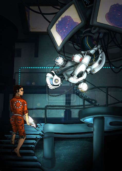 Chell And Glados