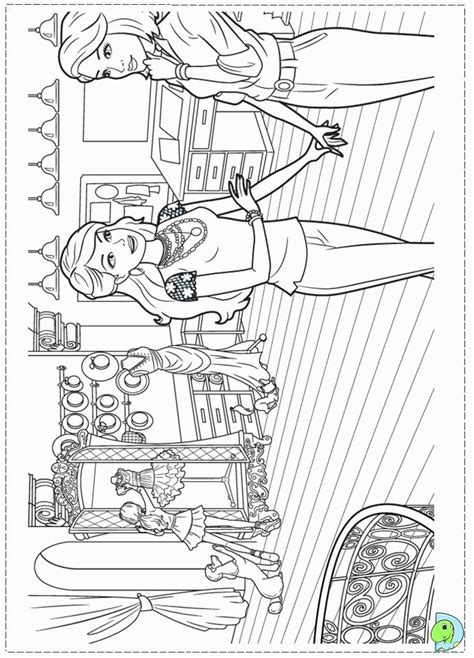 barbie fashion fairytale coloring pages printable coloring home
