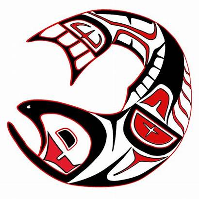 Salmon Fish Haida Native Nations American Tribal