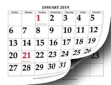 printable calendar large print