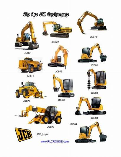 Construction Clipart Equipment Machinery Heavy Excavating Cliparts