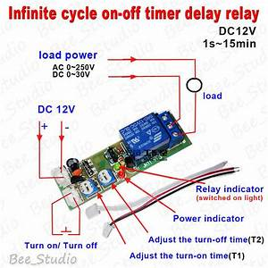 Dc 12v Trigger Infinite Cycle Delay Timer Relay Switch
