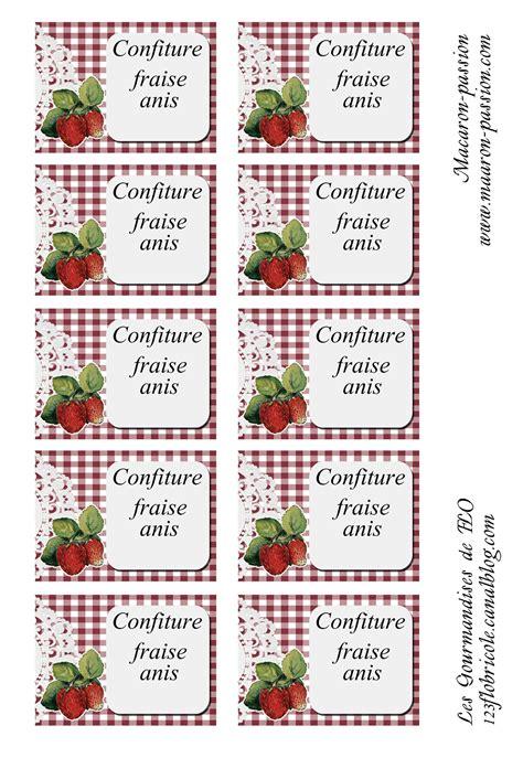 etiquettes pour pots de confiture a imprimer confiture fraise anis 233 tiquettes 1 2 3 flo bricole les gourmandises de flo
