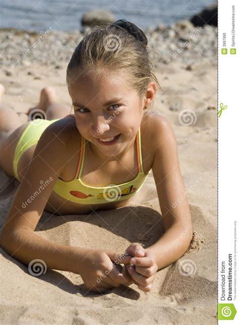 girl   beach iii stock photo image  wind waves