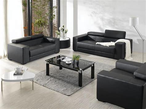 Modern Leather Furniture by Rug With Black Furniture Modern Black