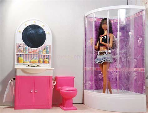 Dollhouse Furniture Set by Size Dollhouse Furniture Bathroom W Shower Toilet