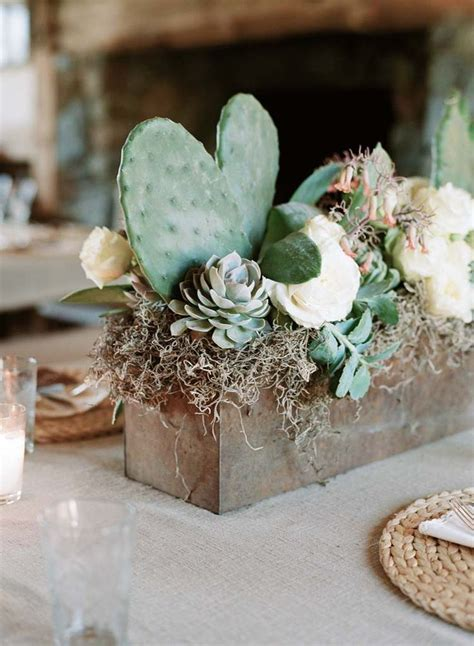 succulents centerpiece wedding ceremony centerpieces