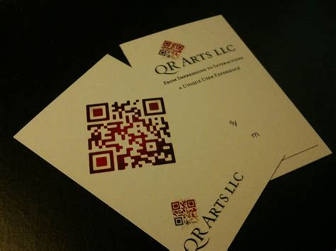 awesome qr code business cards pixel curse