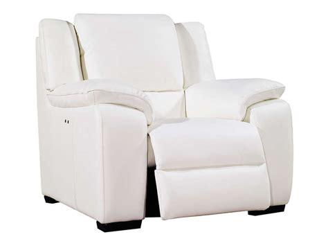 canapé cuir blanc conforama fauteuil relaxation électrique en cuir saturday coloris