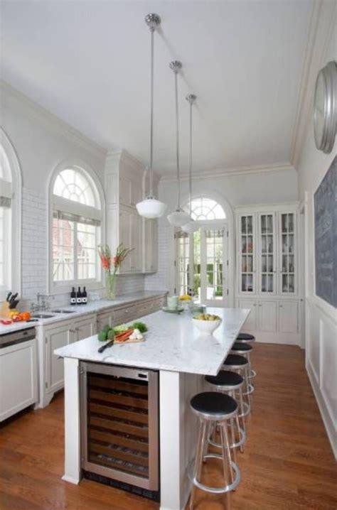narrow kitchen island ideas  pinterest narrow