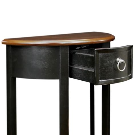 what to put on end tables besides ls leick favorite finds demilune accent table in slate 9030 sl
