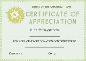 22 legitimate donation certificate templates for your next for Certificate of appreciation for donation template