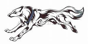 Running Wolf Tattoo Commission by WildSpiritWolf on DeviantArt