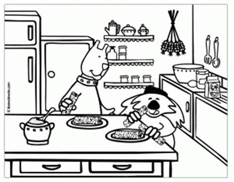 kitchen coloring page cocina para colorear 3384