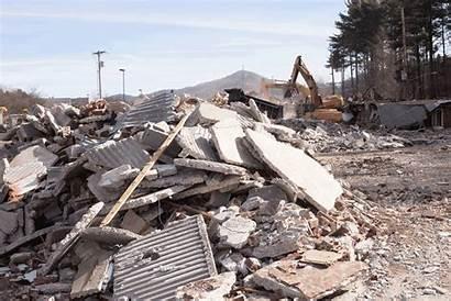Boone Demolition Continues Standard Tsunami Maremoto Project