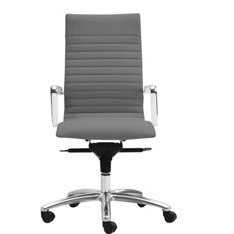 grey desk chair zetti high back executive grey leather chair
