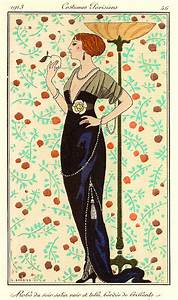 george barbier39s artwork titled robe du soir satin noir et With robe du soir noir