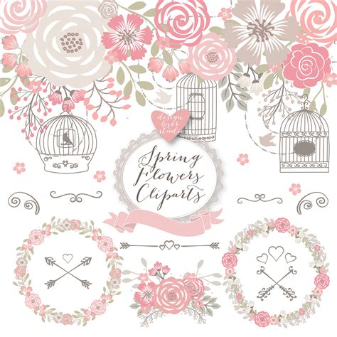 shabby chic clip premium rustic wedding clipart cage shabby chic clipart