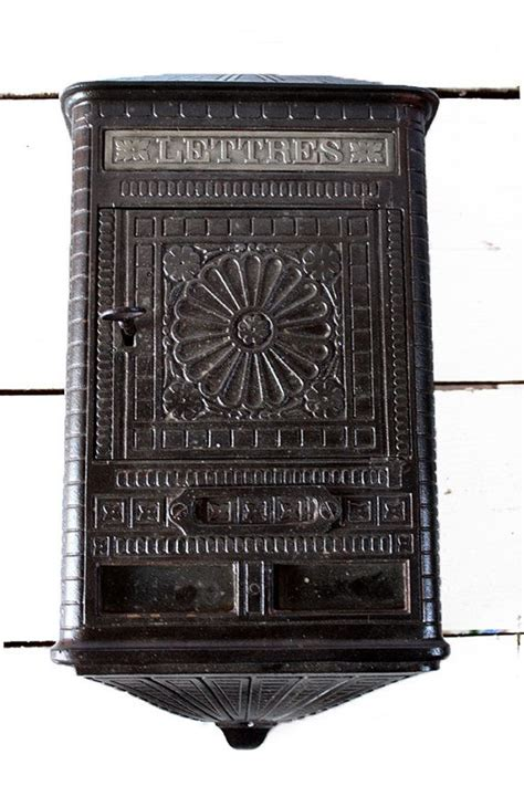 art deco l post original french cast iron art deco mailbox 1900 with its