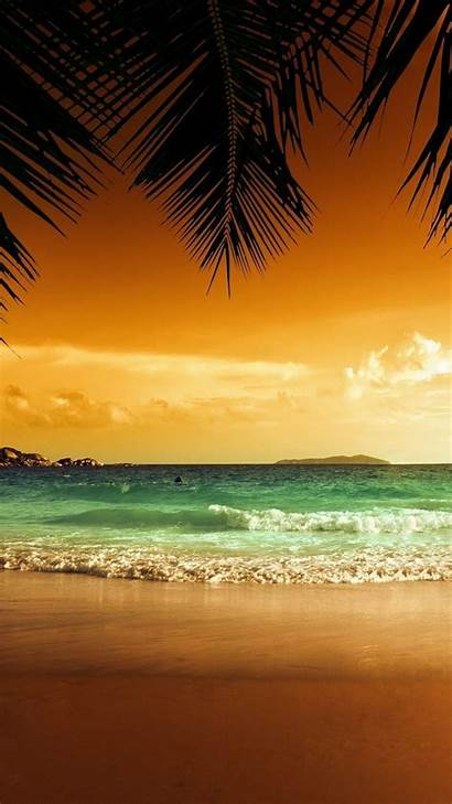 Tropical Wallpapers Iphone Beach Sunset Background Relaxing