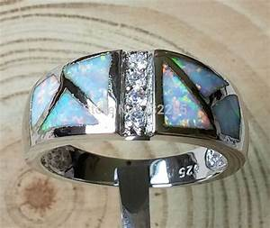 Cool mystic blue / white fire opal rings for men-in Rings ...