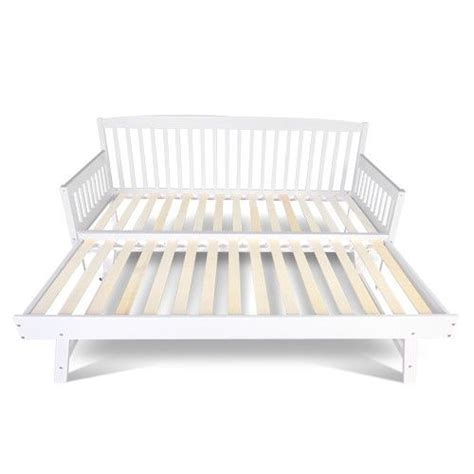 sofa bed  pull  trundle fold  legs wooden slats