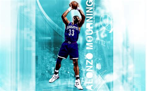 alonzo mourning hornets widescreen wallpaper basketball