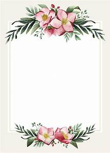 Blank Wedding Card Design Vector