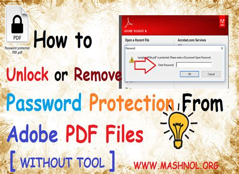 how to remove password from adobe pdf files