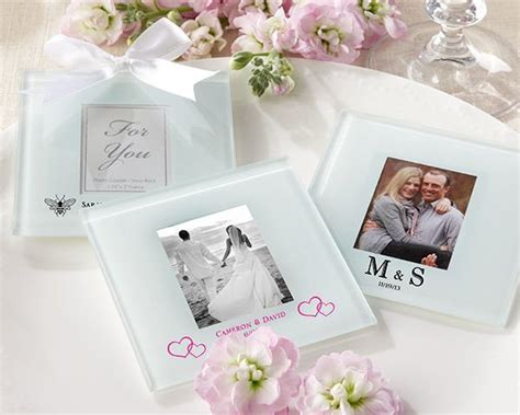 Personalized Frosted Glass Photo Coasters (set Of 12