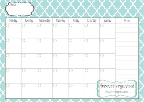 monthly calendar template monthly calendar to print templates free printable