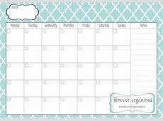 Monthly Calendar Print Out – printable weekly calendar