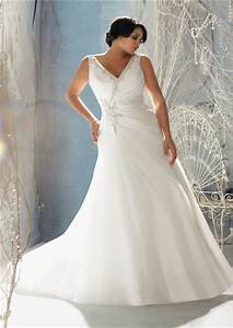 a line v neck organza beaded crystal plus size wedding With fitted plus size wedding dresses